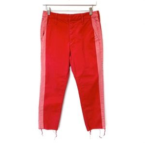 Mother The Shaker Prep Fray Jeans Killing Time Red